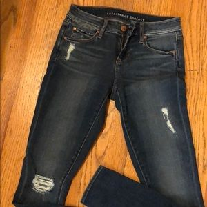 Articles of society blue ripped jeans size 24